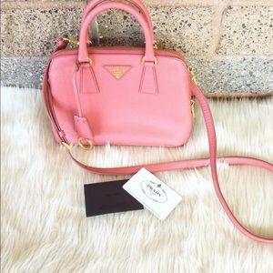 PRADA || Promenade pink saffiano leather crossbody